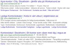 Sponsrade länkar på Google för kontorslokaler