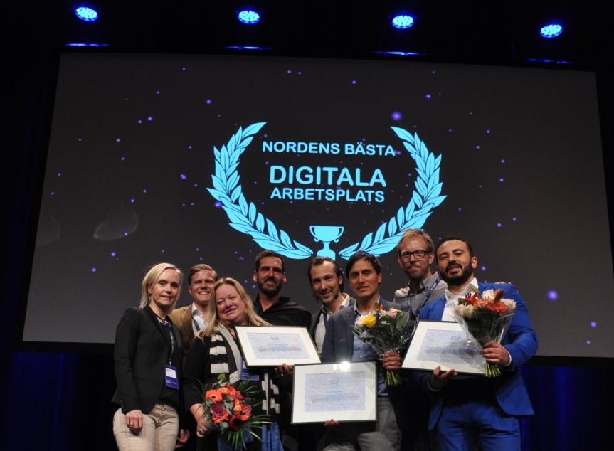 Vinnarna och jurymedlemmar i Digital Workplace Awarda 2017