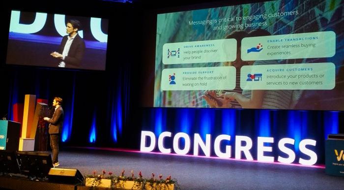 Henrik van den Worm berättar på D Congress 2018 om hur Facebooks meddelandetjänster kommer att kunna användas för affärsrelationer.