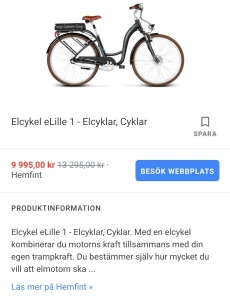 Produktinformation i Google Shopping