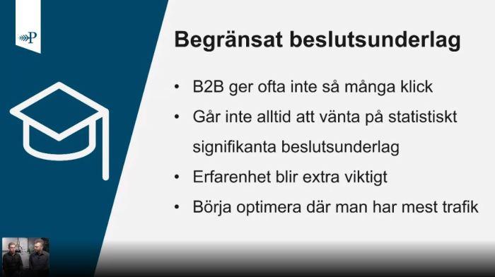 Begränsat beslutsunderlag för SEM inom B2B